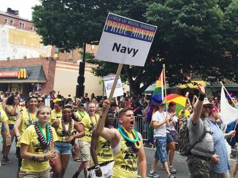 Gay Navy at Capital Gay Pride 2015