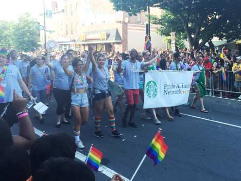 Starbucks Float at Capital Gay Pride 2015