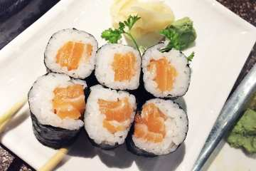 Salmon Sushi Roll $6 @ Cho Oishi Los Angeles California