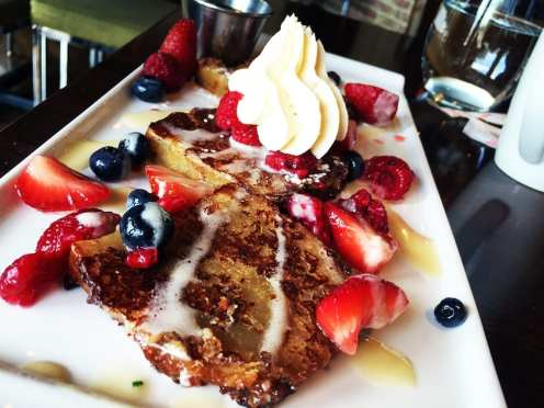 Bread Pudding French Toast $13 Sunday Brunch @ 8407 Kitchen Bar in Down Town Silver Spring, Maryland