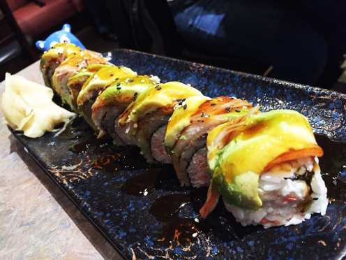 Super Dragon Sushi Roll $14 @ Sushi Plus in Redwood City California