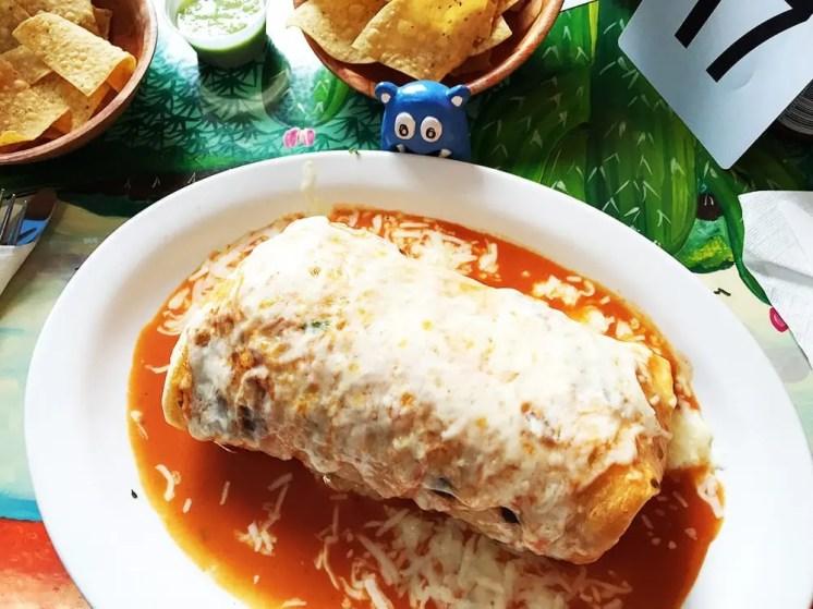 Wet Chicken Burrito @ Taqueria El Metate in Redwood City California