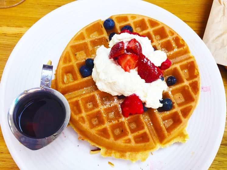 Fresh Berry Waffles at Summer House Rockville