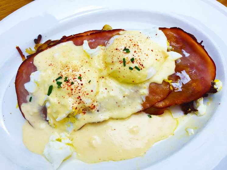 Hashbrown Eggs Benedict at Summer House Rockviile