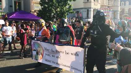 501st Legion, Rebel Alliance Legion, and Mandalorian Mercs Costume Club @ Capital Pride Parade 2017