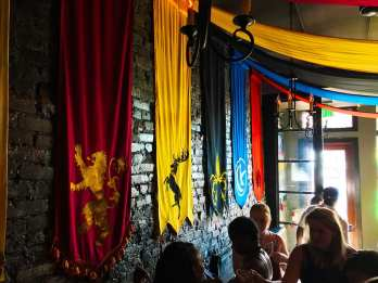 Lannister, Baratheons, Ironborn, Arryns, and Dorn at Game of Thrones Pop Up Bar