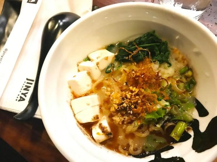 Vegeterian Ramen @ Jinya Ramen Grand Opening in Logan Circle