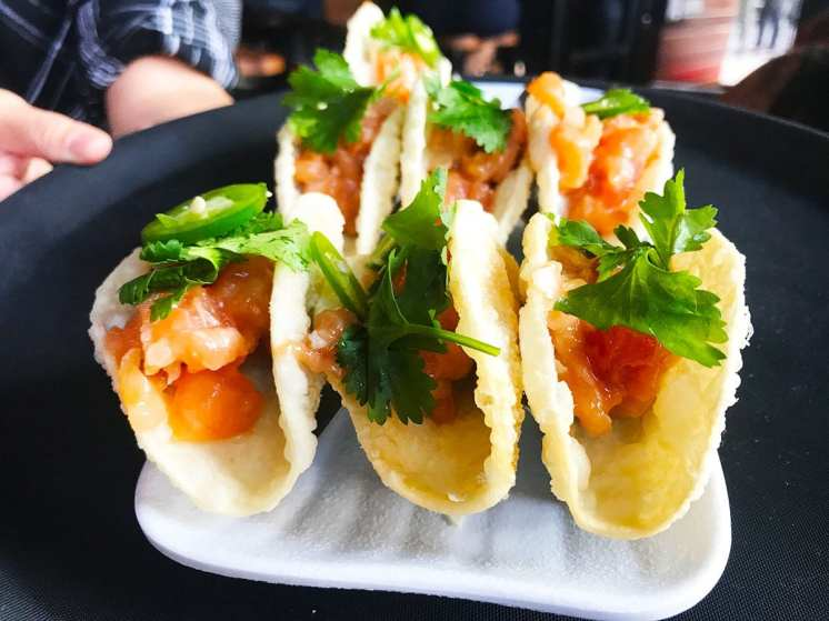 Spicy Salmon Tacos @ Jinya Pike & Rose Rockville
