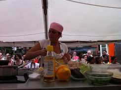 Chef Ariane Duarte at Top Chef Tour Eastern Market DC