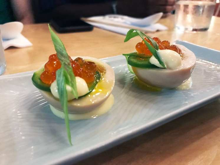 Japanese Deviled Eggs @ Haikan