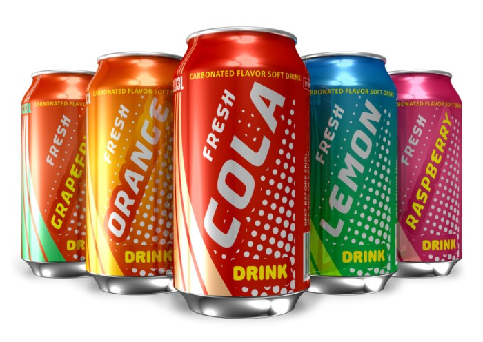 soda can - a set of soda cans