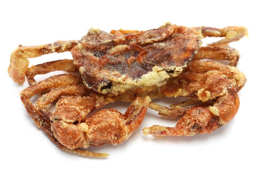 deep fried soft-shell crabs