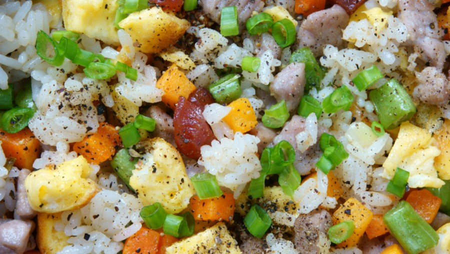 fried rice - from rice cooked in a rice cooker