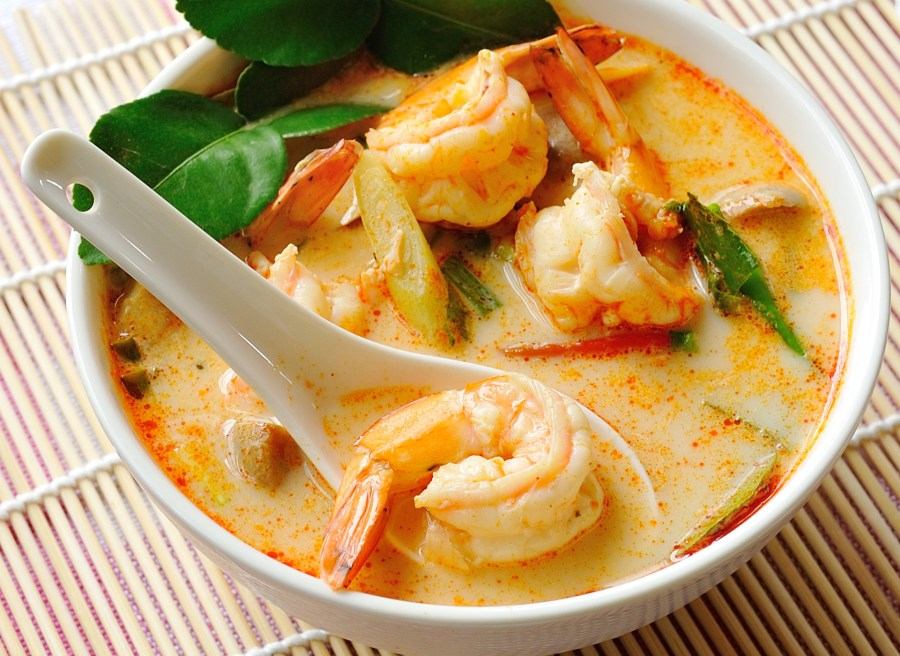 Spicy Tom Yam Kung soup (Thai cuisine)