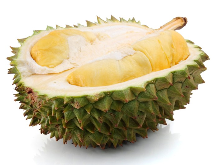 durians - half opened