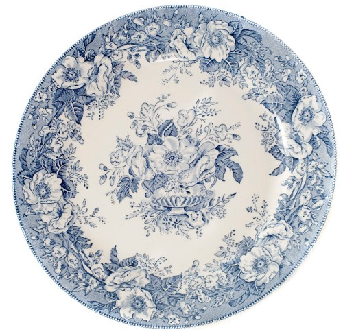 picture of antique plate in front of a white background