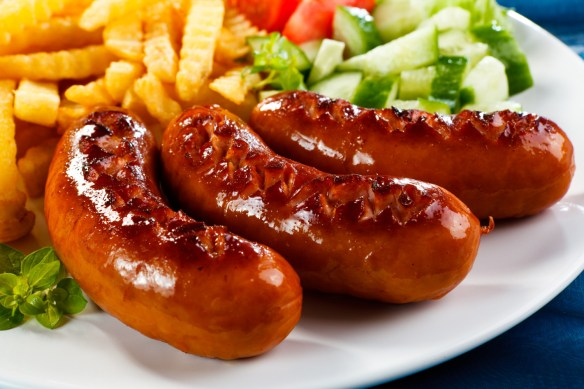 Sausages can also trace it language origins to salt