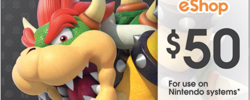 $50 Nintendo eShop Gift Cards for $42.50 with email delivery