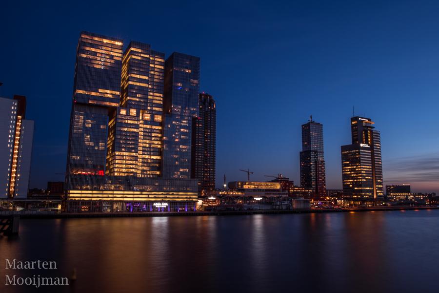 Rotterdam skyline Nieuwe Maas
