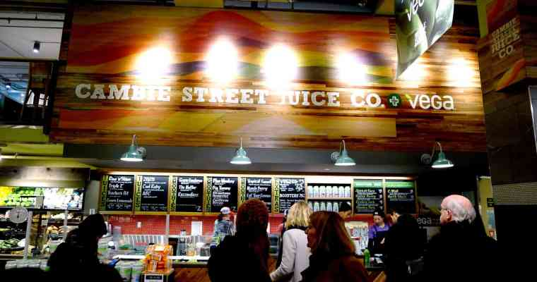 Cambie Street Juice Co at Whole Foods Market Vancouver + Vega