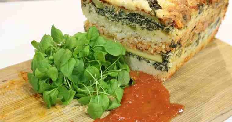 Veggie Rice Lasagna Loaf Recipe Chef John Higgins