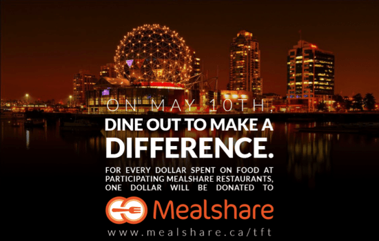 Mealshare 'Tonight for Tomorrow' on May 10th, 2017