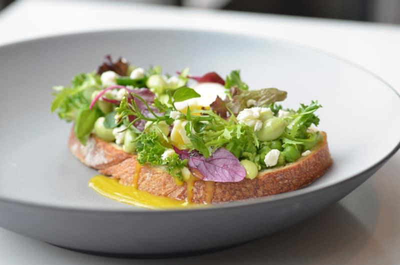 Fairmont Waterfront | Spring Pea Toast at ARC Restaurant