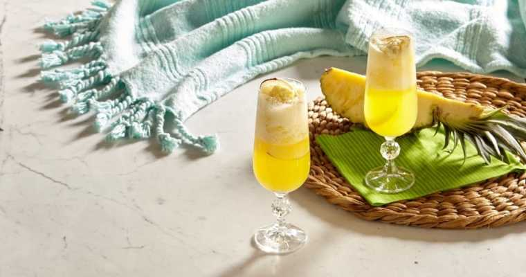 Sparkling Ice Coconut Pineapple Bellini Mocktail Recipe