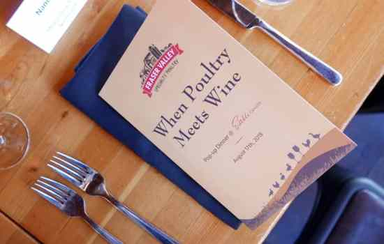 """Fraser Valley Specialty Poultry """"When Poultry Meets Wine"""" Pop-up Dinner at Edible Canada"""