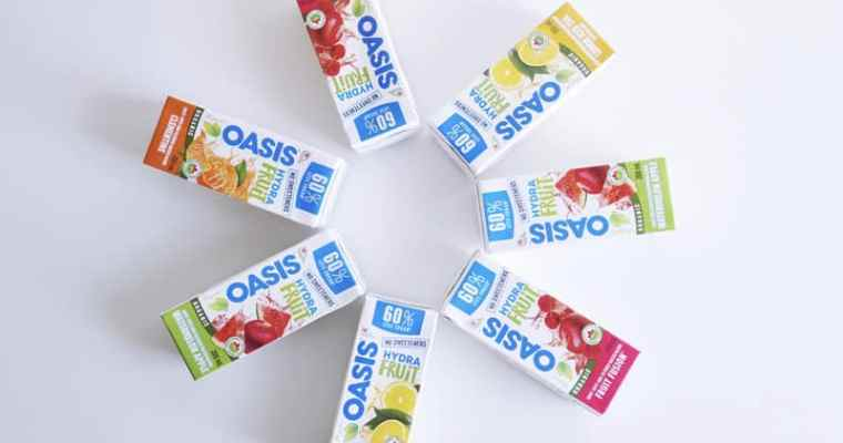 Oasis HydraFruit – Organic Juices with 60% less sugar!
