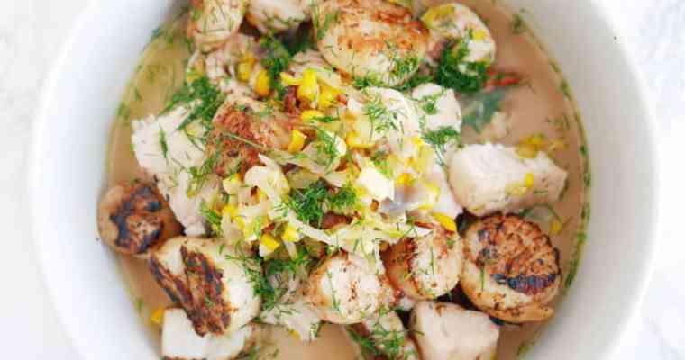 Haddock Scallops Fennel Soup Recipe with MSC & Nobilo Wines