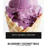 KETO FRIENDLY 3 INGREDIENT ONLY BLUEBERRY COCONUT MILK LEMON ZEST ICE CREAM DAIRY-FREE EGG-FREE NO CHURN NOMSS.COM HEALTHY FOOD RECIPES #BLUEBERRY #ICECREAM #NICECREAM #KETO