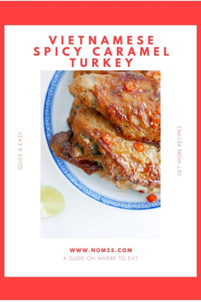 Vietnamese Spicy Caramel Turkey recipe Nomss.com Canada Food Blog
