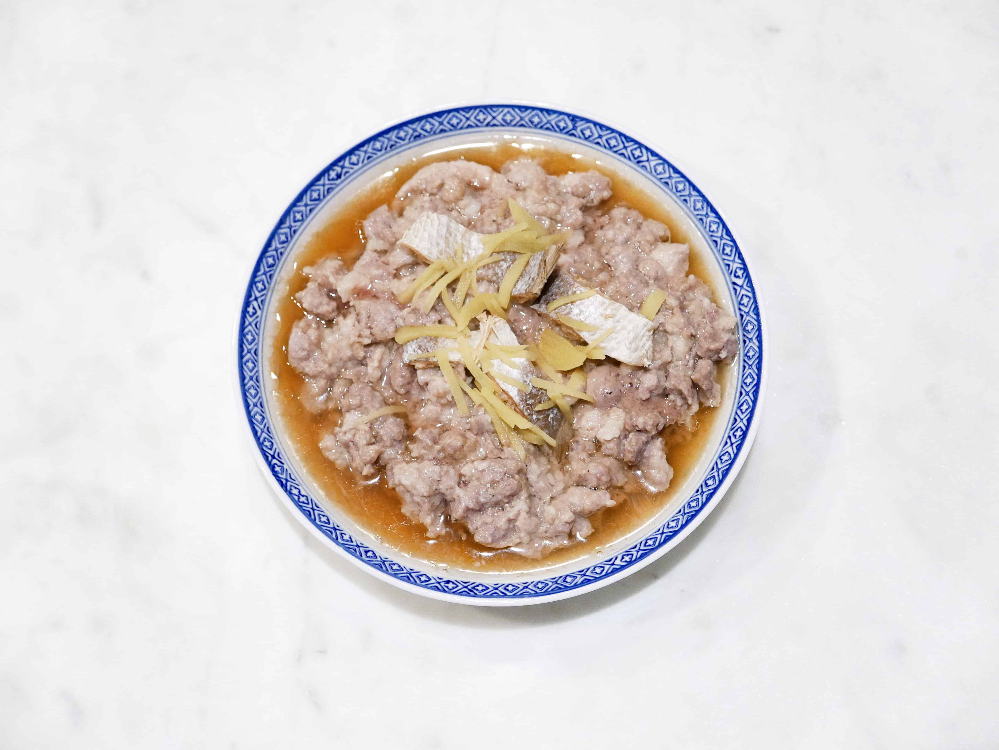 Steamed Minced Pork with Salted Fish 鹹魚蒸肉餅