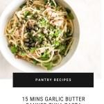 GARLIC BUTTER CANNED TUNA PASTA spaghetti