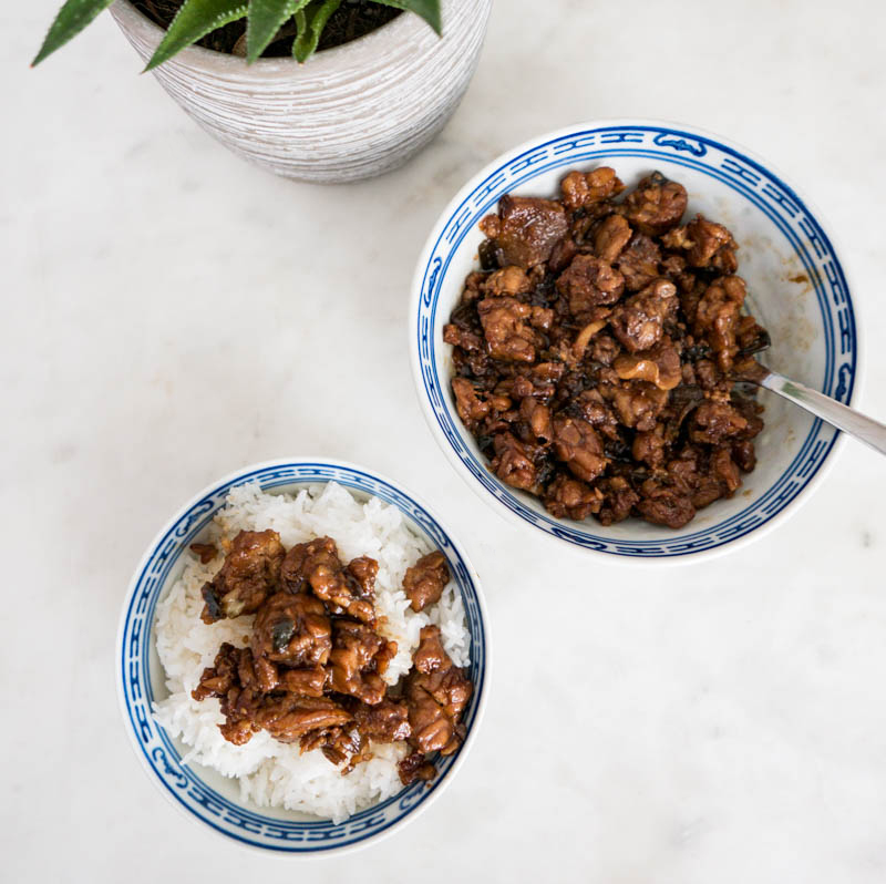 "VEGAn TAIWANESE BRAISED ""PORK BELLY"" tempah 天貝滷肉飯"