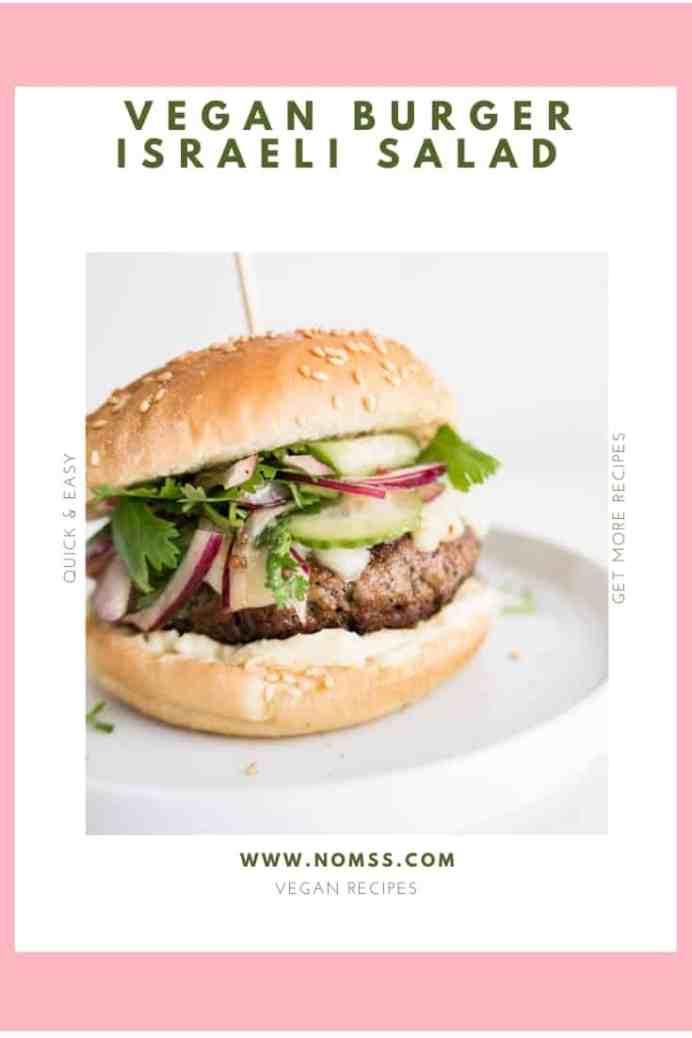 Vegan Burger with Israeli Salad