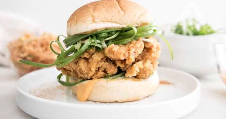 Padak Korean Fried Chicken Burger 파닭