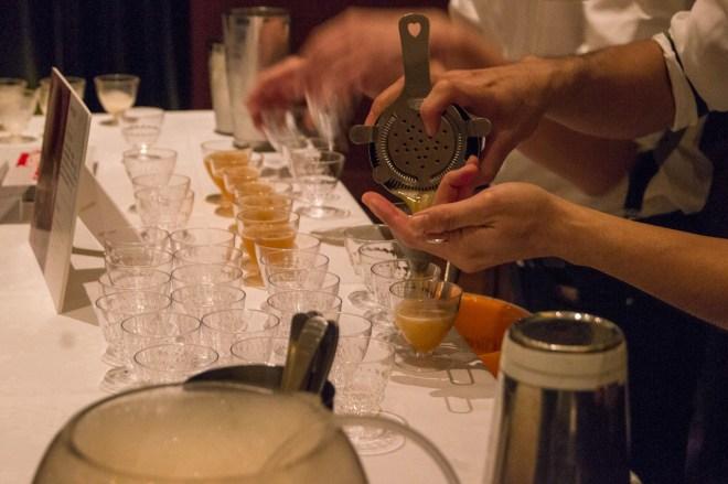 "This one features Darjeeling tea foam! Recipe for Newjack's ""Beyond"" cocktail: -28ml Bushmills -20ml Fanchon tea liqueur -10ml fresh lemon juice -7.5ml Monin Pear syrup -2 dashes Newjack house bitters -Darjeeling tea foam head"