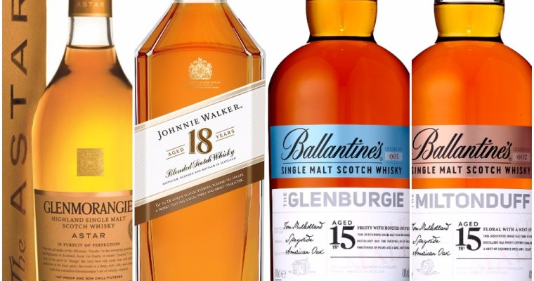Glenmorangie Astar, Johnnie Walker 18, Ballantine's Single Malts coming to Japan