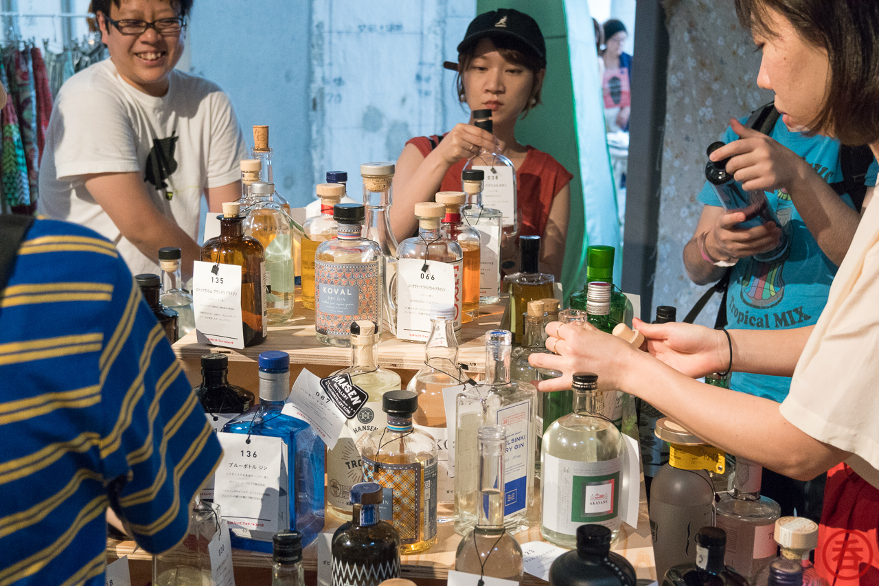 Choose your bottle, line up at the bar, and get your gin & tonic!