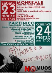 Monreale e Partinico: due appuntamenti verso la manifestazione nazionale del 30 marzo a Niscemi...