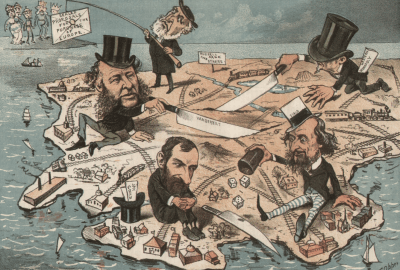 """""""Monopoly Millionaires Divide the Country,"""" 1882"""