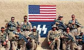 US soldiers with nazi flag