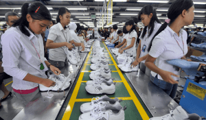 Factory workers in Indonesia