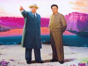 Kim Il-Sung and Kim Jong-Il.