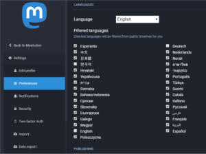 You can filter languages quickly and easily in your user settings.
