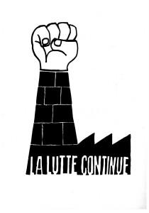 Cartaz alusivo aos protestos de maio de 68 na França