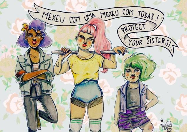 Ilustração de Jéssica Lisboa, do coletivo Girl Gang