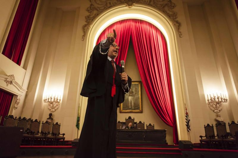 Filme de Rodrigo Siqueira simula julgamento (Foto: divulgação)